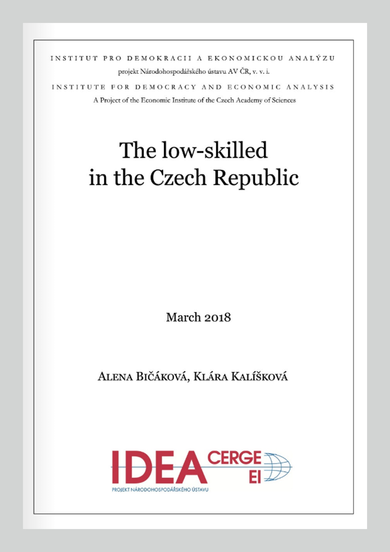The low-skilled in the Czech Republic
