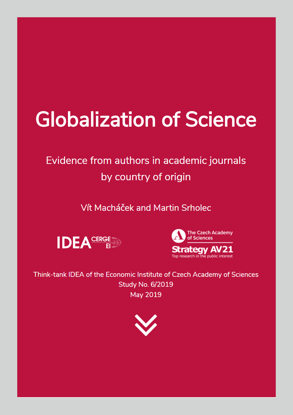 Globalization of science: Evidence from authors in academic journals by country of origin